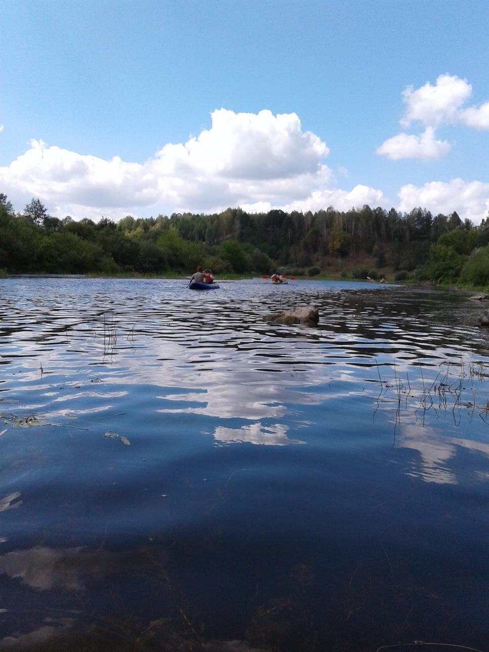 сплав по річці случ на байдарках